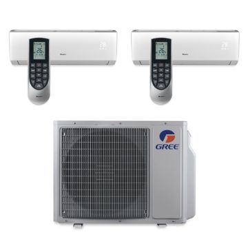 Gree MULTI30BVIR200 - 30,000 BTU Multi21 Dual-Zone Wall Mount Mini Split Air Conditioner Heat Pump 208-230V (9-9)