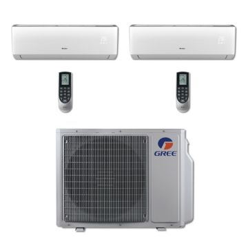 Gree MULTI30BVIR204 - 30,000 BTU Multi21 Dual-Zone Wall Mount Mini Split Air Conditioner Heat Pump 208-230V (12-12)