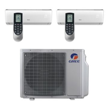 Gree MULTI30BVIR205 - 30,000 BTU Multi21 Dual-Zone Wall Mount Mini Split Air Conditioner Heat Pump 208-230V (12-18)