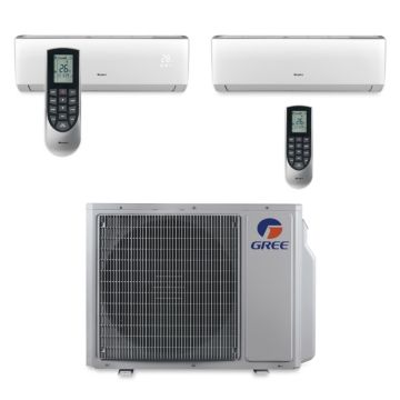 Gree MULTI30BVIR208 - 30,000 BTU Multi21 Dual-Zone Wall Mount Mini Split Air Conditioner Heat Pump 208-230V (18-24)