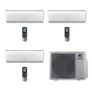 Gree MULTI30BVIR300 - 30,000 BTU Multi21 Tri-Zone Wall Mounted Mini Split Air Conditioner with Heat Pump 220V (9-9-9)