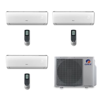 Gree MULTI30BVIR300 - 30,000 BTU Multi21 Tri-Zone Wall Mount Mini Split Air Conditioner Heat Pump 208-230V (9-9-9)