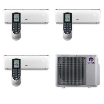 Gree MULTI30BVIR305 - 30,000 BTU Multi21 Tri-Zone Wall Mount Mini Split Air Conditioner Heat Pump 208-230V (9-12-18)