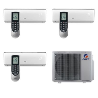 Gree MULTI30BVIR305 - 30,000 BTU Multi21 Tri-Zone Wall Mount Mini Split Air Conditioner Heat Pump 208-230V (9-12-18)