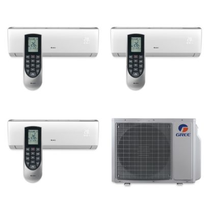 Gree MULTI30BVIR307 - 30,000 BTU Multi21 Tri-Zone Wall Mount Mini Split Air Conditioner Heat Pump 208-230V (12-12-18)