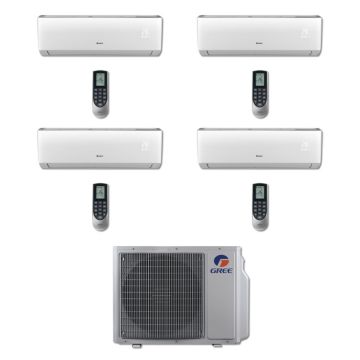 Gree MULTI30BVIR400 - 30,000 BTU Multi21 Quad-Zone Wall Mount Mini Split Air Conditioner Heat Pump 208-230V (9-9-9-9)