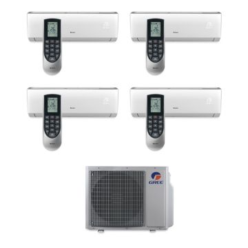 Gree MULTI30BVIR402 - 30,000 BTU Multi21 Quad-Zone Wall Mount Mini Split Air Conditioner Heat Pump 208-230V (9-9-12-12)