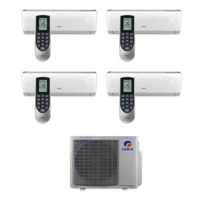 Gree MULTI30BVIR402 - 30,000 BTU Multi21 Quad-Zone Wall Mount Mini Split Air Conditioner Heat Pump 208-230V (9-9-12-12)