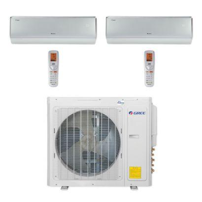 Gree MULTI30CCROWN205 - 30,000 BTU Multi21+ Dual-Zone Wall Mount Mini Split Air Conditioner Heat Pump 208-230V (12-18)