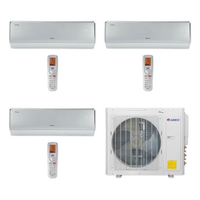 Gree MULTI30CCROWN304 - 30,000 BTU Multi21+ Tri-Zone Wall Mount Mini Split Air Conditioner Heat Pump 208-230V (9-12-12)