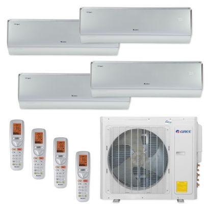 Gree MULTI30CCROWN402 - 30,000 BTU Multi21+ Quad-Zone Wall Mount Mini Split Air Conditioner Heat Pump 208-230V (9-9-12-12)