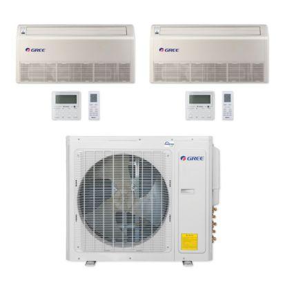 Gree MULTI30CFLR207 - 30,000 BTU Multi21+ Dual-Zone Floor/Ceiling Mini Split Air Conditioner Heat Pump 208-230V (18-18)