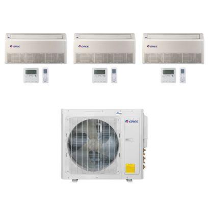 Gree MULTI30CFLR302 - 30,000 BTU Multi21+ Tri-Zone Floor/Ceiling Mini Split Air Conditioner Heat Pump 208-230V (9-9-18)