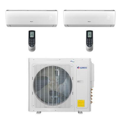 Gree MULTI30CLIV207 - 30,000 BTU Multi21+ Dual-Zone Wall Mount Mini Split Air Conditioner Heat Pump 208-230V (18-18)