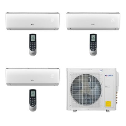 Gree MULTI30CLIV305 - 30,000 BTU Multi21+ Tri-Zone Wall Mount Mini Split Air Conditioner Heat Pump 208-230V (9-12-18)