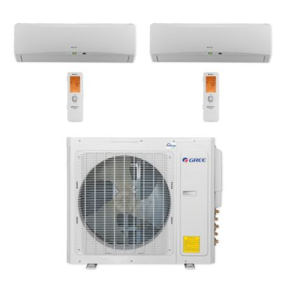 Gree MULTI30CTERRA200 - 30,000 BTU Multi21+ Dual-Zone Wall Mount Mini Split Air Conditioner Heat Pump 208-230V (9-9)