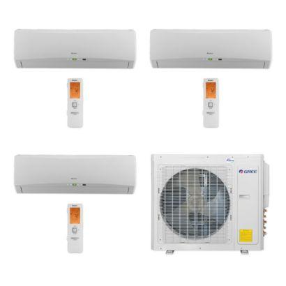 Gree MULTI30CTERRA300 - 30,000 BTU Multi21+ Tri-Zone Wall Mount Mini Split Air Conditioner Heat Pump 208-230V (9-9-9)