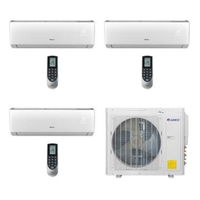 Gree MULTI30CVIR307 - 30,000 BTU Multi21+ Tri-Zone Wall Mount Mini Split Air Conditioner Heat Pump 208-230V (12-12-18)