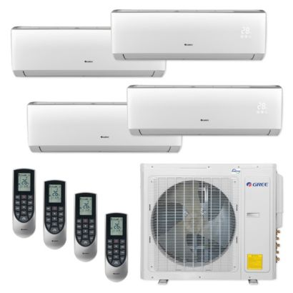 Gree MULTI30CVIR402 - 30,000 BTU Multi21+ Quad-Zone Wall Mount Mini Split Air Conditioner Heat Pump 208-230V (9-9-12-12)