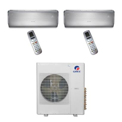 Gree MULTI36BCROWN204 - 36,000 BTU Multi21 Dual-Zone Wall Mount Mini Split Air Conditioner Heat Pump 208-230V (12-12)