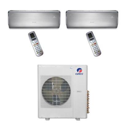 Gree MULTI36BCROWN207 - 36,000 BTU Multi21 Dual-Zone Wall Mount Mini Split Air Conditioner Heat Pump 208-230V (18-18)