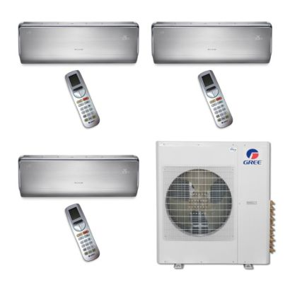 Gree MULTI36BCROWN301 - 36,000 BTU Multi21 Tri-Zone Wall Mount Mini Split Air Conditioner Heat Pump 208-230V (9-9-12)