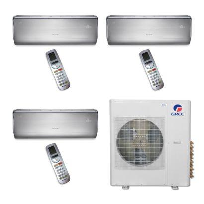 Gree MULTI36BCROWN305 - 36,000 BTU Multi21 Tri-Zone Wall Mount Mini Split Air Conditioner Heat Pump 208-230V (9-12-18)