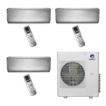 Gree MULTI36BCROWN309 - 36,000 BTU Multi21 Tri-Zone Wall Mount Mini Split Air Conditioner Heat Pump 208-230V ((12-12-18)