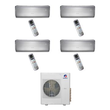 Gree MULTI36BCROWN405 -36,000 BTU Multi21 Quad-Zone Wall Mounted Mini Split Air Conditioner with Heat Pump 220V (9-12-12-12)