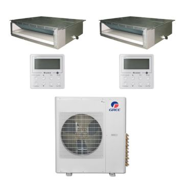 Gree MULTI36BDUCT202 - 36,000 BTU Multi21 Dual-Zone Concealed Duct Mini Split Air Conditioner Heat Pump 208-230V (9-18)