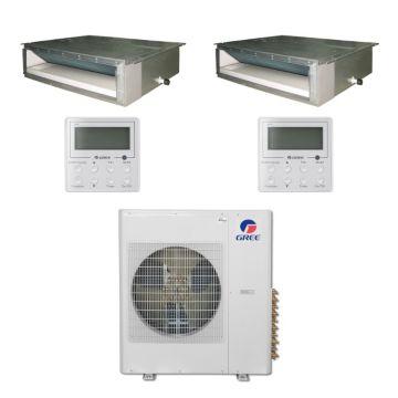 Gree MULTI36BDUCT204 - 36,000 BTU Multi21 Dual-Zone Concealed Duct Mini Split Air Conditioner with Heat Pump 220V (12-12)