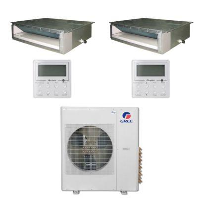 Gree MULTI36BDUCT207 - 36,000 BTU Multi21 Dual-Zone Concealed Duct Mini Split Air Conditioner Heat Pump 208-230V (18-18)