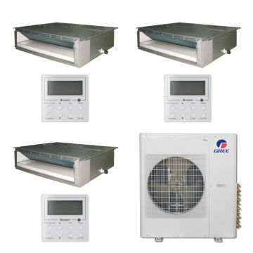 Gree MULTI36BDUCT300 - 36,000 BTU Multi21 Tri-Zone Concealed Duct Mini Split Air Conditioner Heat Pump 208-230V (9-9-9)
