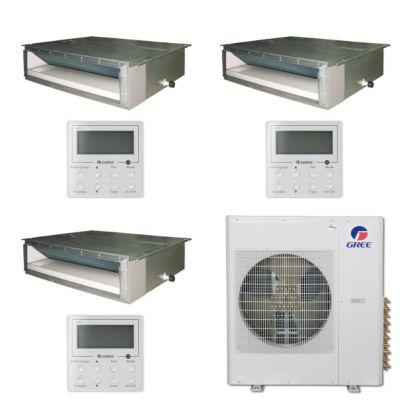 Gree MULTI36BDUCT310 - 36,000 BTU Multi21 Tri-Zone Concealed Duct Mini Split Air Conditioner Heat Pump 208-230V (12-12-24)
