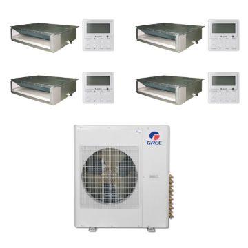 Gree MULTI36BDUCT401 - 36,000 BTU Multi21 Quad-Zone Concealed Duct Mini Split Air Conditioner Heat Pump 208-230V (9-9-9-12)