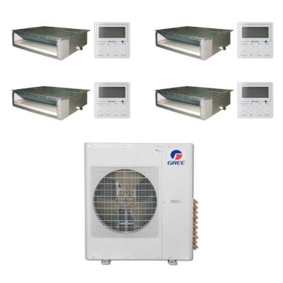 Gree MULTI36BDUCT402 - 36,000 BTU Multi21 Quad-Zone Concealed Duct Mini Split Air Conditioner Heat Pump 208-230V (9-9-9-18)