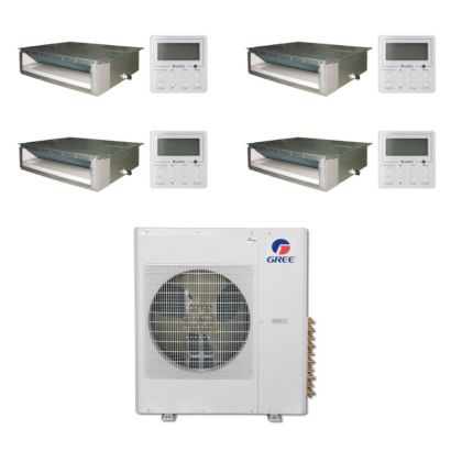 Gree MULTI36BDUCT403 -36,000 BTU Multi21 Quad-Zone Concealed Duct Mini Split Air Conditioner Heat Pump 208-230V (9-9-12-12)