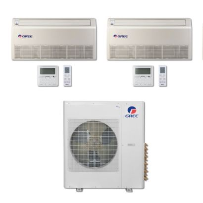 Gree MULTI36BFLR204 - 36,000 BTU Multi21 Dual-Zone Floor/Ceiling Mini Split Air Conditioner Heat Pump 208-230V (12-12)