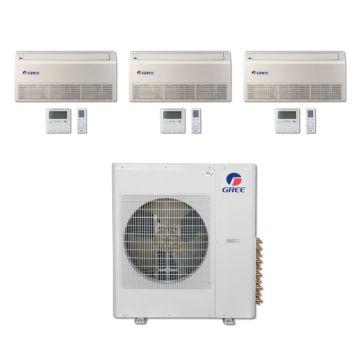 Gree MULTI36BFLR300 - 36,000 BTU Multi21 Tri-Zone Floor/Ceiling Mini Split Air Conditioner with Heat Pump 220V (9-9-9)