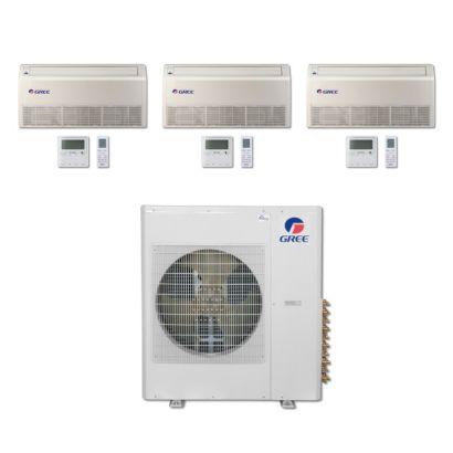 Gree MULTI36BFLR303 - 36,000 BTU Multi21 Tri-Zone Floor/Ceiling Mini Split Air Conditioner Heat Pump 208-230V (9-9-24)