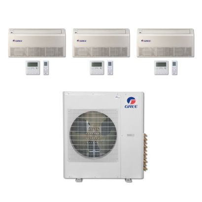 Gree MULTI36BFLR304 - 36,000 BTU Multi21 Tri-Zone Floor/Ceiling Mini Split Air Conditioner Heat Pump 208-230V (9-12-12)
