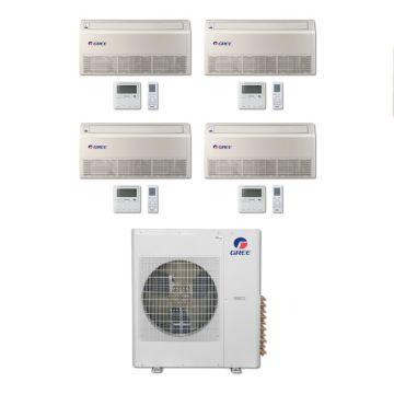 Gree MULTI36BFLR400 - 36,000 BTU Multi21 Quad-Zone Floor/Ceiling Mini Split Air Conditioner with Heat Pump 220V (9-9-9-9)