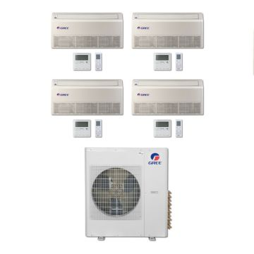 Gree MULTI36BFLR404 - 36,000 BTU Multi21 Quad-Zone Floor/Ceiling Mini Split Air Conditioner Heat Pump 208-230V (9-9-12-18)