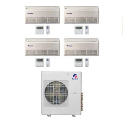 Gree MULTI36BFLR404 - 36,000 BTU Multi21 Quad-Zone Floor/Ceiling Mini Split Air Conditioner Heat Pump 208-230V (9-9-12-18)