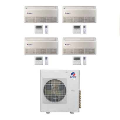 Gree MULTI36BFLR405 - 36,000 BTU Multi21 Quad-Zone Floor/Ceiling Mini Split Air Conditioner Heat Pump 208-230V (9-12-12-12)
