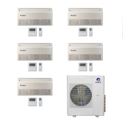 Gree MULTI36BFLR500 - 36,000 BTU Multi21 Penta-Zone Floor/Ceiling Mini Split Air Conditioner Heat Pump 208-230V (9-9-9-9-9)