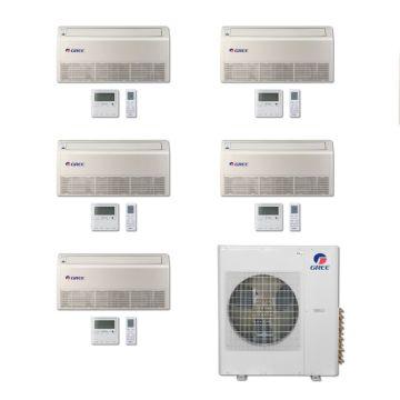 Gree MULTI36BFLR501 -36,000 BTU Multi21 Penta-Zone Floor/Ceiling Mini Split Air Conditioner Heat Pump 208-230V (9-9-9-9-12)