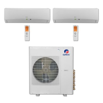 Gree MULTI36BTERRA204 - 36,000 BTU Multi21 Dual-Zone Wall Mount Mini Split Air Conditioner Heat Pump 208-230V (12-12)