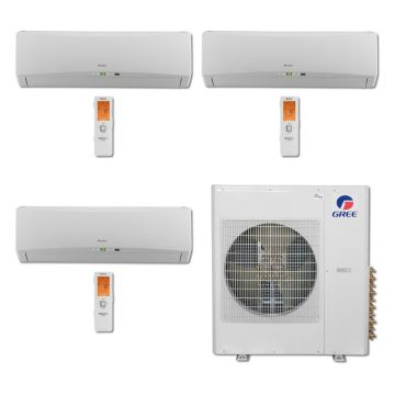 Gree MULTI36BTERRA300 - 36,000 BTU Multi21 Tri-Zone Wall Mounted Mini Split Air Conditioner with Heat Pump 220V (9-9-9)