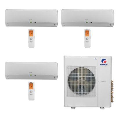 Gree MULTI36BTERRA304 - 36,000 BTU Multi21 Tri-Zone Wall Mount Mini Split Air Conditioner Heat Pump 208-230V (9-12-12)